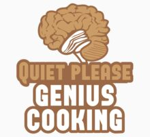 Quiet please Genius Cooking! with brain Baby Tee