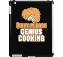 Quiet please Genius Cooking! with brain iPad Case/Skin