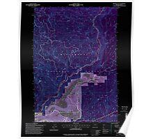 USGS Topo Map Oregon Westfir East 282056 1997 24000 Inverted Poster