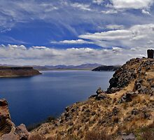 Incan burial towers at Sillustani, on Lake Umayo by Dave Storym