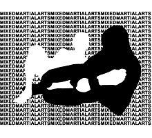 Mixed Martial Arts MMA Kneebar Photographic Print
