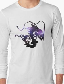 Mega rayquaza and space - Black Version Long Sleeve T-Shirt