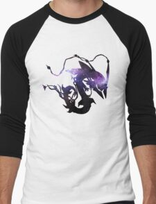 Mega rayquaza and space - Black Version Men's Baseball ¾ T-Shirt