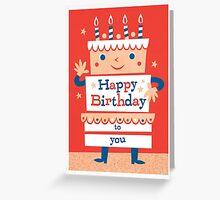happy birthday cake Greeting Card