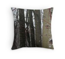 Dripping forest Throw Pillow