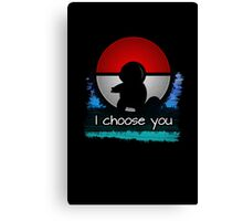 Pokemon - I choose you - Squirtle version Canvas Print