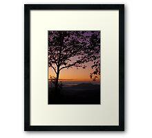 Silhouette Sunrise Framed Print