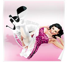 Elizabeth Olmos Texas Pin-Up Girl Poster
