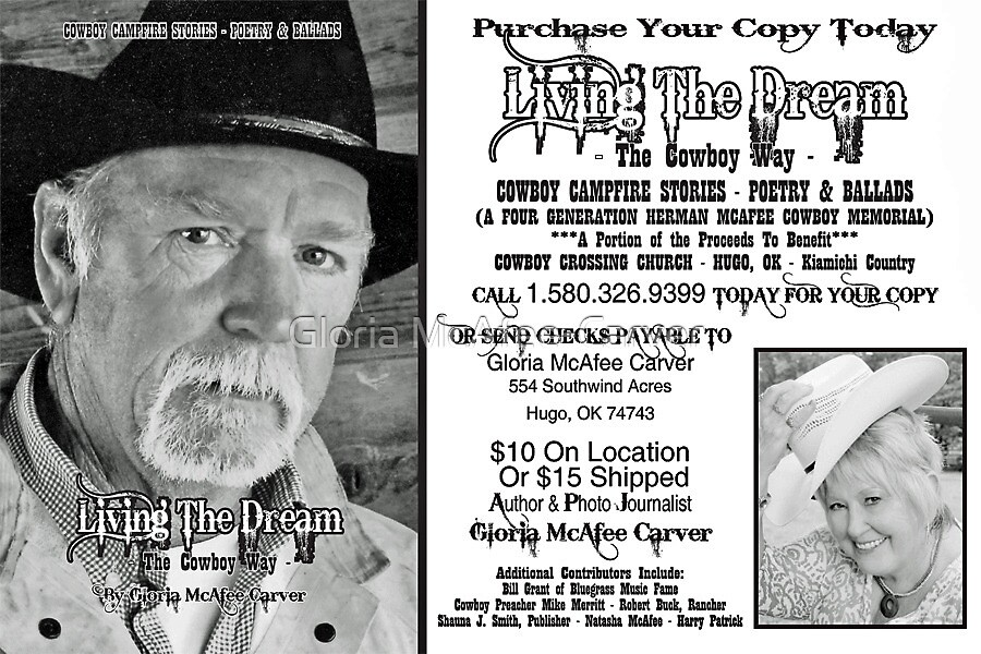 """BOOK: """"LIVING THE DREAM THE COWBOY WAY"""" by Gloria McAfee-Carver"""