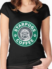 Star Pugs Coffee - Starbucks Women's Fitted Scoop T-Shirt