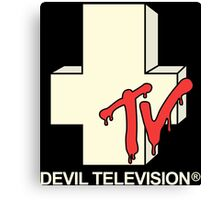 Devil Television Canvas Print