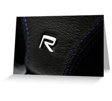 S60 R Steering  Greeting Card