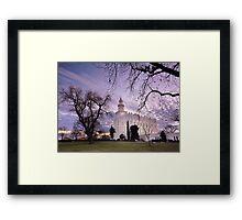 St. George LDS Temple - Evening Framed Print