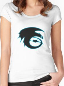 How to train your dragon - Toothless Symbol Women's Fitted Scoop T-Shirt