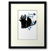 How to train your dragon - Toothless Splatter Framed Print