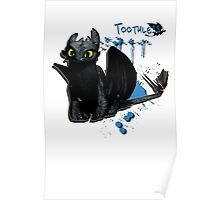 How to train your dragon - Toothless Splatter Poster