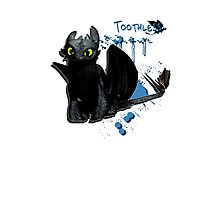 How to train your dragon - Toothless Splatter Photographic Print