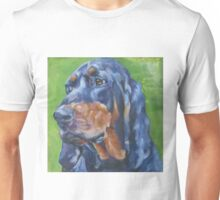 Black and Tan Coonhound Fine Art Painting Unisex T-Shirt