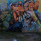 Art on the Parking Lot Wall by DAdeSimone