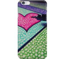 Colorful heart. iPhone Case/Skin