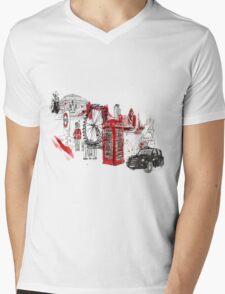 London Town Illustration Mens V-Neck T-Shirt