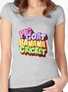 Pig Goat Banana Cricket Women's Fitted Scoop T-Shirt