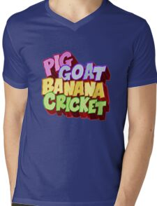 Pig Goat Banana Cricket Mens V-Neck T-Shirt