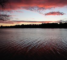 River Sunset by Catherine Clemow