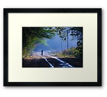 walking in to the blues Framed Print