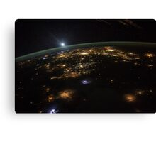 Good Morning From the International Space Station Canvas Print