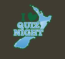 I love QUIZ Night with New Zealand Map Unisex T-Shirt