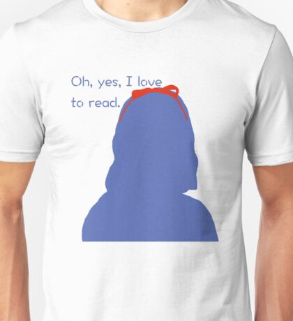 Oh, yes, I love to read. Unisex T-Shirt