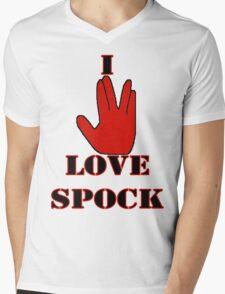 I love Spock Mens V-Neck T-Shirt