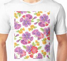 Garden Flowers Pattern Unisex T-Shirt
