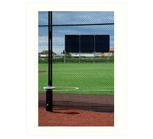 Baseball Field Art Print