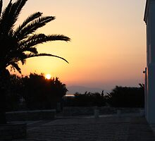 Sunset on Tinos by Leah Gay