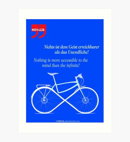 Ride To Infinity (quotation) Art Print