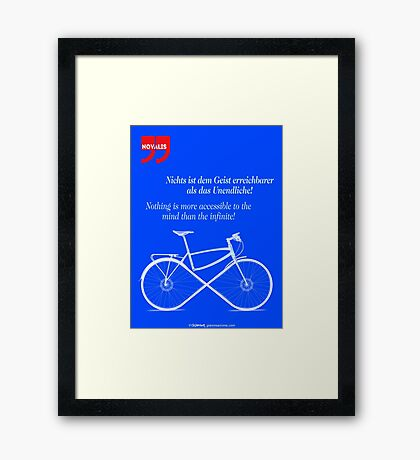 Ride To Infinity (quotation) Framed Print