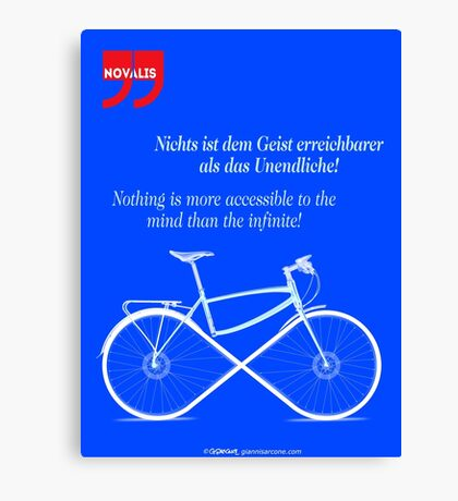 Ride To Infinity (quotation) Canvas Print