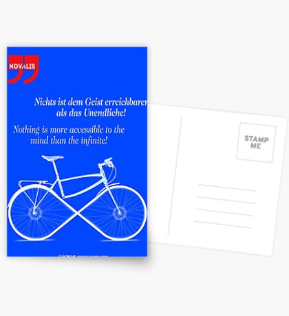 Ride To Infinity (quotation) Postcards