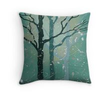Misty Forest - by Helen Janow Miqueo Throw Pillow