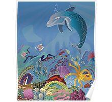 Dauphin in the ocean Poster