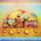 rainbow elephant blessing by © Karin (Cassidy) Taylor