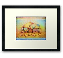 rainbow elephant blessing Framed Print
