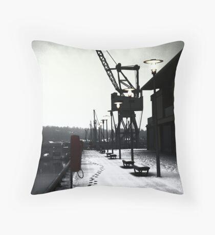 Chatham Historic Dockyard Crane Throw Pillow