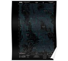 USGS Topo Map Oregon Wood Butte 20110824 TM Inverted Poster