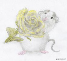 MOPPY & HIS ROSE FOR ELLEN - 5th Sketch in series of friend´s pets by LadyE