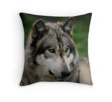A WOLF PORTRAIT Throw Pillow
