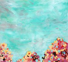 Tree Tops 1 - Textured Abstraction by angelique devitte