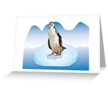 Pinguin on a ice block Greeting Card